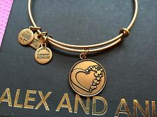 Charm Charity By Design Gold Bangle Bracelet New Alex and Ani Whole Heart Love