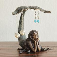 Pretty Little Mermaid Jewelry Earring Holder Tabletop Decorative Accent Coastal