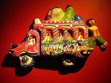 """Vintage Original Haitian 3-D Paper Mache Bus 24""""x16"""""""
