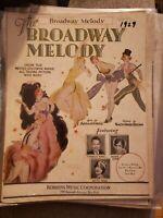 Vintage Sheet Music 1929 Broadway Melody Charles King Anita Page Bessie Love
