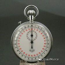 HEUER Rattrapante Stopwatch Taschenuhr Schleppzeiger Stoppuhr ca. 1935