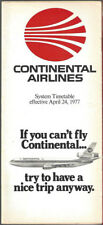 Continental Airlines system timetable 4/24/77 [8102]