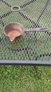 Vintage Cast Iron Metal Smelting Ladle 8 inches