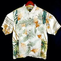Tommy Bahama Relax Button Front Short Sleeve Shirt Hawaiian Mens Large Green