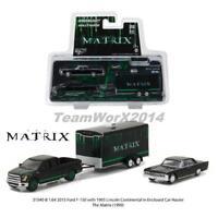 GREENLIGHT 31040 B THE MATRIX MOVIE F150 TRUCK, CAR & HAULER SET DIECAST 1:64