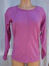 Athleta Foothill Long Sleeve Top Purple Mesh Ventilation, Seamless Size M EUC