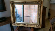 Antique Ornate Wood & Gesso Gold Gilded Vintage Baroque Style Wall Mirror