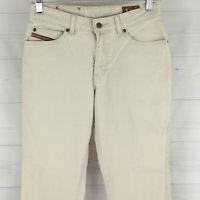 Lee Girls Size 14R Stretch Cream White Adjustable Waist Flare Denim Jeans EUC