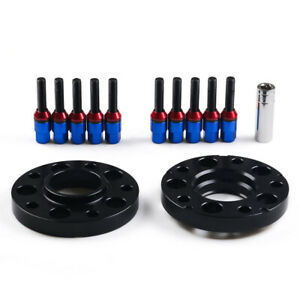 For BMW 325 335i 545i 20mm Hubcentric Wheel Spacers w/Lug Bolts M12x1.5mm Blue