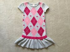 New Gymboree Smart And Sweet Girl's Size 5 Argyle Sweater Dress NWT Pink Gray