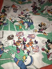 Vintage Twin Flat Mickey Mouse Minnie Friends Sports Sheet Soccer Cheerleaders