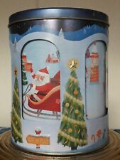 Empty M&S Christmas Carousel, Musical, Biscuit Tin, Plays Winter Wonderland 2014