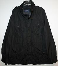 Polo Ralph Lauren Big and Tall Mens Black Nylon Utility Jacket NWT $345 2XLT