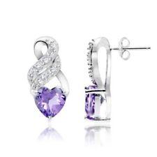 Butterfly Drop/Dangle Amethyst Fine Earrings