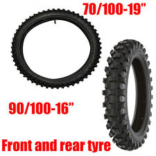 90/100-16 Rear Tyre Tire&70/100-19 Front Tire Tyre&Tube for Dirt Bike Motorcycle