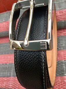 Alfred Dunhill Mens Leather Belt Black Size 42/107cm RRP £225