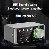 Digital Bluetooth 5.0 HiFi Power Audio Amplifier USB TF Card MP3 Music Player Sw
