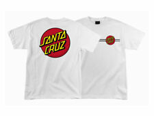 SANTA CRUZ CLASSIC DOT T-SHIRT, Skate Shirt, Santa Cruz, White, (Large), **NEW**