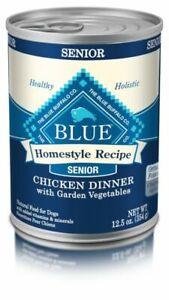Blue Buffalo Homestyle Recipe Natural Senior Wet Dog Food - 12.5oz. 14 cans.