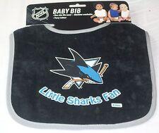 NHL NWT INFANT BABY BIB - BLACK - SAN JOSE SHARKS
