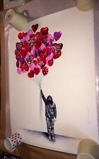 MR BRAINWASH LOVE IS IN THE AIR PRINT S/N LOW #6/101 Banksy Valentine's Day RARE