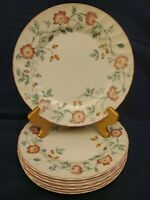 "8 CHURCHILL BRIAR ROSE STAFFORDSHIRE FINE ENGLISH TABLEWARE 10"" DINNER PLATES"