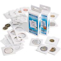 10 Etuis cartonnés autocollants LEUCHTTURM diam 27,5mm pour vos pièces de 2€