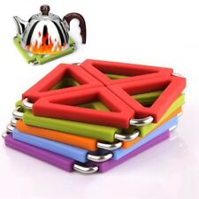 Silicone Placemat Non-Slip Heat-Insulated Table Mat Kitchen Hotel Office Mat Pad