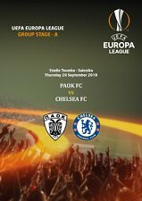 PROGRAMME PIRATE PAOK FC CHELSEA C3 UEFA EUROPA LEAGUE 2018 2019