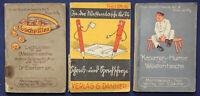 3 Scherzbücher um 1950 ua. Lachpillen in der Westentasche, Kasernen-Humor sf