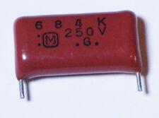 .68 uF - .68uF MYLAR Capacitor universal 250 Volts - 5 each