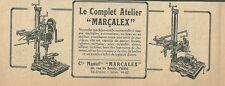 Publicité 1926 MACHINE OUTIL Marçalex  réclame