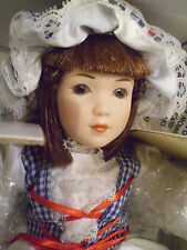 Danbury Mint Little Miss Muffet The Storybook Heirloom Doll Collection NIOB