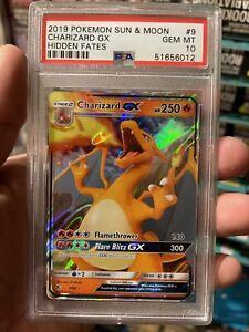Pokemon Charizard GX Hidden Fates 9/68 PSA 10 - GEM MINT 💎