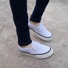 "White Sneakers Casual Shoes Canvas  vans For 1/3 24"" BJD SD AOD Doll"