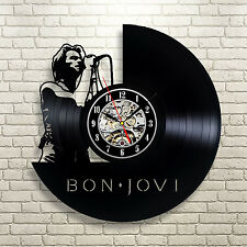 Bon Jovi _Exclusive wall clock made of vinyl record_GIFT
