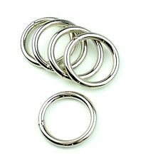 """Steel Rings Welded Nickel Plated 1 3/4 """" Eye Size-8 Pcs"""