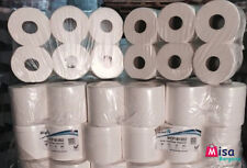 48 White Supersoft Embossed 2 PLY Centrefeed Paper Wiper Rolls Towels Not Blue