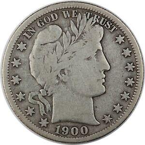 1900-S United States Barber Half-Dollar 50c - F Fine Condition