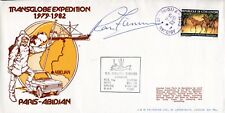 Explorer Sir Ranulph Fiennes signed Transglobe Expedition cover Paris-Abadan