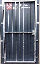 Gittertür Feuerverzinkt Einbruchschutz auf Maß - Modell Stange