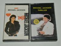 MICHAEL JACKSON Bad & Thriller YUGOSLAVIA editions paper label cassette tape lot