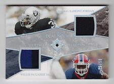2006 Ultimate Collection LaMont Jordan Willis McGahee Dual Patch (35/50)