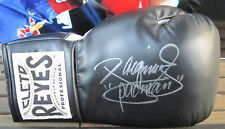 Manny Pacquiao Signed Reyes Black Leather Boxing Glove- Global Authentics