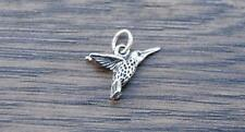 Sterling Silver Humming Bird Charm Pendant DB1L