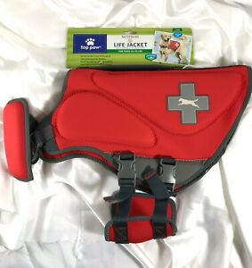Top Paw Neoprene dog Life Jacket Vest RED Size L for 55 to 85 lb MSRP $49.99