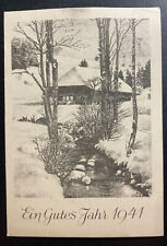 1940 Germany Buchenwald Concentration KZ Camp Christmas Postcard Cover 400 Only