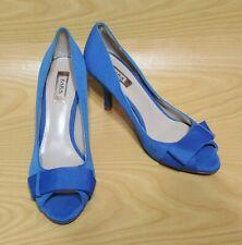 Zara Collection Peep Toe Blue Pumps Heels Women's Shoes 8 / 38