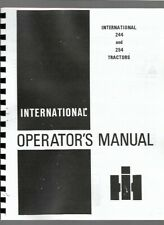 Ih International 244 254 Tractor Operators Owners Manual