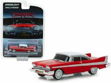 "1958 Plymouth Fury "" CHRISTINE "" EVIL Version Black Window** Greenlight 1:64 NEU"